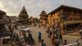 Τετραγωνικό timelapse Durbar Patan στο Νεπάλ απόθεμα βίντεο