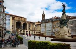 τετραγωνικό virgen BLANCA Vitoria-Gasteiz, Ισπανία Στοκ Εικόνες