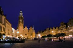τετραγωνικό wroclaw αγοράς Στοκ Φωτογραφίες