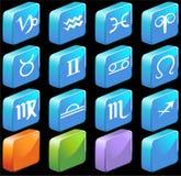 τετραγωνικό zodiac εικονιδίων ωροσκοπίων Στοκ φωτογραφίες με δικαίωμα ελεύθερης χρήσης