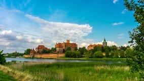 Τευτονικό κάστρο διαταγής σε Malbork απόθεμα βίντεο
