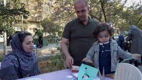 Τεχεράνη, Ιράν - 2019-04-03 - δίκαιη ψυχαγωγία 9 οδών - πίνακας 1 τεχνών παιδιών φιλμ μικρού μήκους