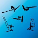 Τεχνάσματα ελεύθερης κολύμβησης Windsurfing Στοκ εικόνα με δικαίωμα ελεύθερης χρήσης