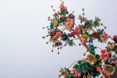 Τεχνητά διακοσμητικά λουλούδια χρώματος Στοκ Φωτογραφία