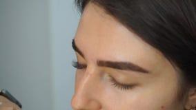 Τεχνητά eyelashes κόλλας απόθεμα βίντεο