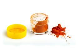 Τεχνητές χρωματίζοντας χρωστική ουσία ή ουσίες τροφίμων στο πακέτο Στοκ φωτογραφία με δικαίωμα ελεύθερης χρήσης