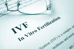 Τεχνητή λίπανση IVF στοκ εικόνες