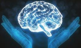τεχνητή ηλεκτρονική νοημοσύνη έννοιας κυκλωμάτων εγκεφάλου mainboard Στοκ φωτογραφία με δικαίωμα ελεύθερης χρήσης