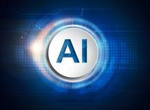 τεχνητή ηλεκτρονική νοημοσύνη έννοιας κυκλωμάτων εγκεφάλου mainboard ελεύθερη απεικόνιση δικαιώματος