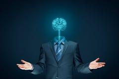 τεχνητή ηλεκτρονική νοημοσύνη έννοιας κυκλωμάτων εγκεφάλου mainboard Στοκ Εικόνα