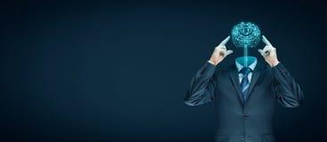 τεχνητή ηλεκτρονική νοημοσύνη έννοιας κυκλωμάτων εγκεφάλου mainboard Στοκ Φωτογραφία