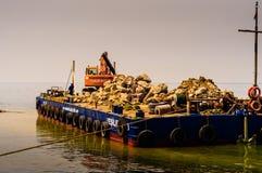 Τεχνητή κατασκευή ακτών Στοκ Φωτογραφίες