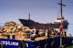 Τεχνητή κατασκευή ακτών Στοκ Φωτογραφία