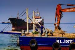 Τεχνητή κατασκευή ακτών Στοκ Εικόνα