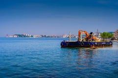 Τεχνητή κατασκευή ακτών Στοκ εικόνες με δικαίωμα ελεύθερης χρήσης