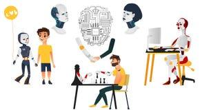 Τεχνητή νοημοσύνη καθορισμένη - ρομπότ, androids, cyborgs Στοκ εικόνες με δικαίωμα ελεύθερης χρήσης