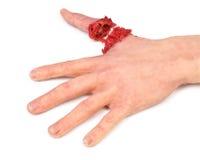 τεχνητός άνθρωπος χεριών δάχτυλων αποκοπών έξω Στοκ φωτογραφία με δικαίωμα ελεύθερης χρήσης