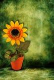 τεχνητός ηλίανθος κίτρινο Στοκ Εικόνες