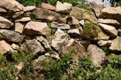 τεχνητός μπλε ελαφρύς τοίχος πετρών Στοκ Φωτογραφία
