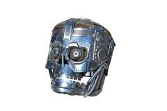 τεχνητό κεφάλι συγκίνησης μέσα στο διάνυσμα ρομπότ νοημοσύνης εκεί Στοκ Φωτογραφία