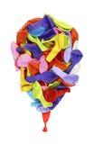 Ζωηρόχρωμο μπαλόνι Στοκ Εικόνα