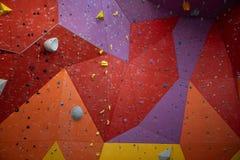 Τεχνητό πρότυπο τοίχων αναρρίχησης bouldering στοκ φωτογραφία