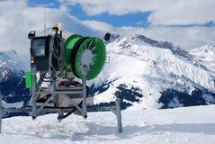 τεχνητό χιόνι μηχανών Στοκ Εικόνες