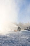 τεχνητό χιόνι παραγωγής πυροβόλων όπλων schladming σκι θερέτρου της Αυστ australites στοκ φωτογραφίες με δικαίωμα ελεύθερης χρήσης