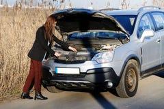 Τεχνικά προβλήματα αυτοκινήτων Στοκ φωτογραφίες με δικαίωμα ελεύθερης χρήσης