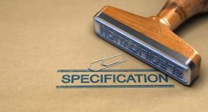 Τεχνικά πρότυπα, προδιαγραφή απεικόνιση αποθεμάτων