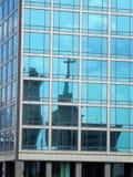 Τεχνική λεπτομέρεια της επιτροπής τοίχων κουρτινών γυαλιού Στοκ Εικόνες