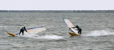τεχνική windsurf στοκ εικόνες
