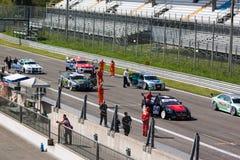 τεχνικοί monza δικτύου κυκλωμάτων αυτοκινήτων Στοκ Εικόνες