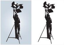 τεχνικός φωτισμού Στοκ εικόνες με δικαίωμα ελεύθερης χρήσης