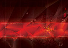 Τεχνικό κόκκινο υπόβαθρο Στοκ Φωτογραφίες