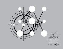 Τεχνικό σχέδιο, αφηρημένο σχέδιο εφαρμοσμένης μηχανικής για τη χρήση γραφικό Στοκ Φωτογραφίες