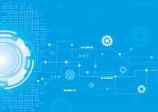 Τεχνικό σχέδιο Mordern στο μπλε Στοκ εικόνα με δικαίωμα ελεύθερης χρήσης