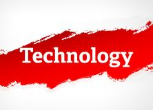 Τεχνολογίας κόκκινη απεικόνιση υποβάθρου βουρτσών αφηρημένη ελεύθερη απεικόνιση δικαιώματος