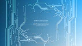 Τεχνολογίας φουτουριστικό αφηρημένο συστημάτων διαστημικό διάνυσμα αντιγράφων προτύπων υποβάθρου κυβερνοχώρου διαλογικό στοκ φωτογραφία με δικαίωμα ελεύθερης χρήσης