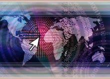 τεχνολογία έννοιας παγκόσμια Στοκ φωτογραφία με δικαίωμα ελεύθερης χρήσης