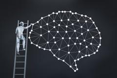 Τεχνολογία εγκεφάλου AI διανυσματική απεικόνιση