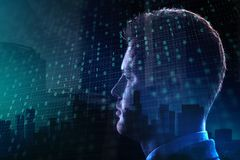 Τεχνολογία και έννοια AI Στοκ εικόνα με δικαίωμα ελεύθερης χρήσης