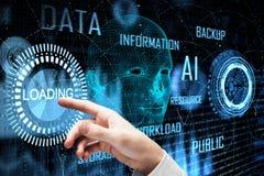 Τεχνολογία και μελλοντική έννοια απεικόνιση αποθεμάτων