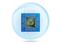 τεχνολογία οικολογία&s Στοκ εικόνες με δικαίωμα ελεύθερης χρήσης