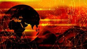Τεχνολογία παγκόσμιων δικτύων επικοινωνία τεχνολογίας διανυσματική απεικόνιση