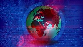 Τεχνολογία παγκόσμιων δικτύων επικοινωνία τεχνολογίας απεικόνιση αποθεμάτων