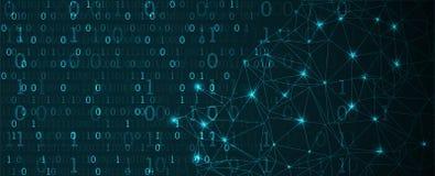 τεχνολογία πλανητών γήινων τηλεφώνων δυαδικού κώδικα ανασκόπησης binary code computer Διανυσματικό Illustratio Απεικόνιση αποθεμάτων