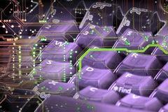τεχνολογία πληκτρολογίων Στοκ Εικόνες