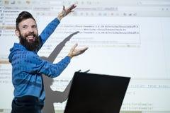 Τεχνολογία πληροφοριών εκπαίδευσης σειράς μαθημάτων προγραμματιστών Στοκ φωτογραφίες με δικαίωμα ελεύθερης χρήσης