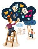 τεχνολογία συστημάτων υπολογισμού σύννεφων ελεύθερη απεικόνιση δικαιώματος